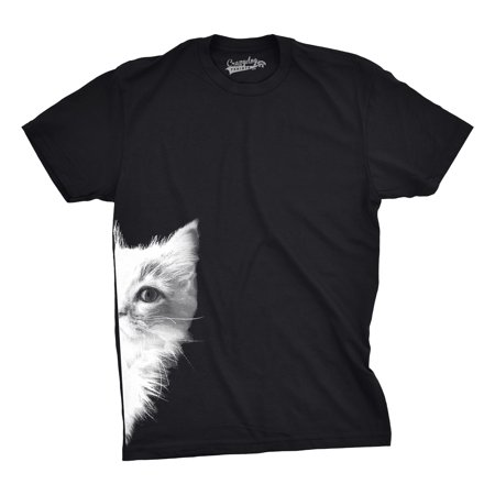 Mens Peek a Boo Kitty Funny Cat Face Crazy Cat Lover Adorable Kitten T