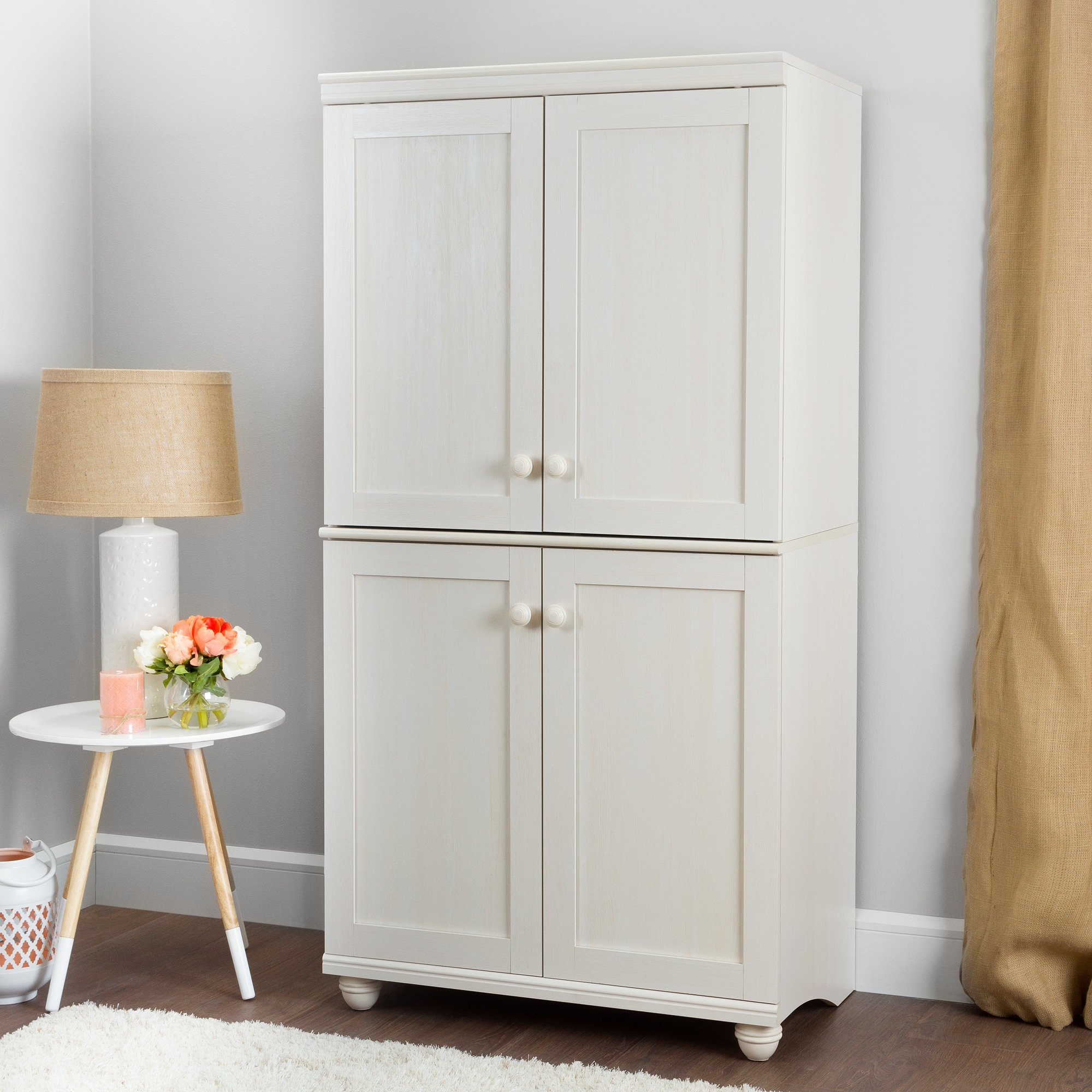 South Shore Hopedale 4 Door Storage Armoire, Multiple Finishes