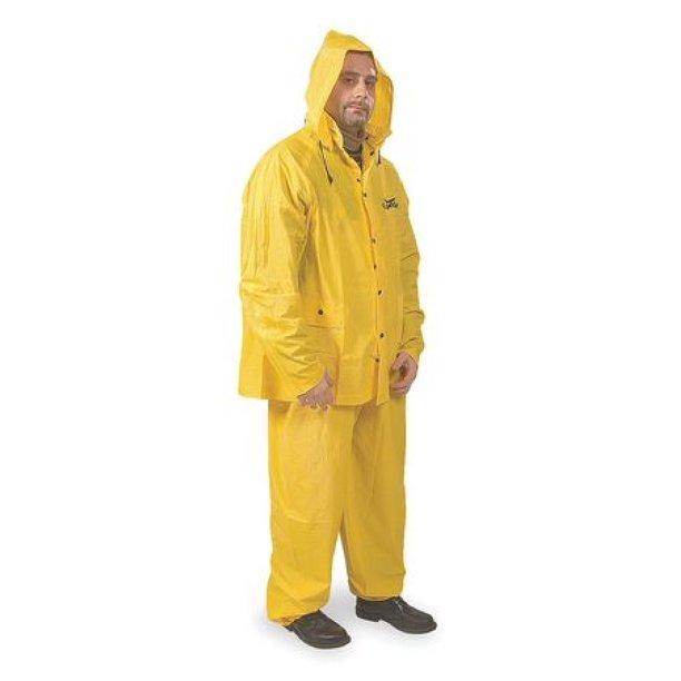 condor 3at35 3 piece rainsuit w detach hood yellow 2xl
