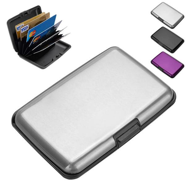 Hot Portable Metal Alloy Credit Card Holder Case Box Money Clip Black//Silver