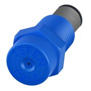 """Plastic Fogger Misting Nozzle with Poly Filter Blue 1/8"""" NPT 1.5 GPH 10 Pack"""