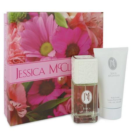 Jessica McClintock JESSICA Mc CLINTOCK Gift Set -- 3.4 oz Eau De Parfum Spray + 5 oz Body Lotion for Women Lotion oz Eau De Parfum Body Lotion