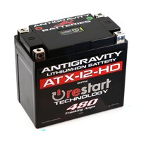 Antigravity ATX12-HD-RS Lithium Ion Battery BMS & Re-Start Technology - 480cca 2.95 Pounds 16Ah - Replaces YTX12-BS YTX14H-BS YTX14 YTX14L YTX14H YTX14-BS YTX14L-BS YTX16-BS YTX16-BS-1 - 3 Yr Warranty