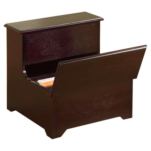 InRoom Designs 2-Step Manufactured Wood Storage Step Stool with 200 lb. Load Capacity by InRoom Designs