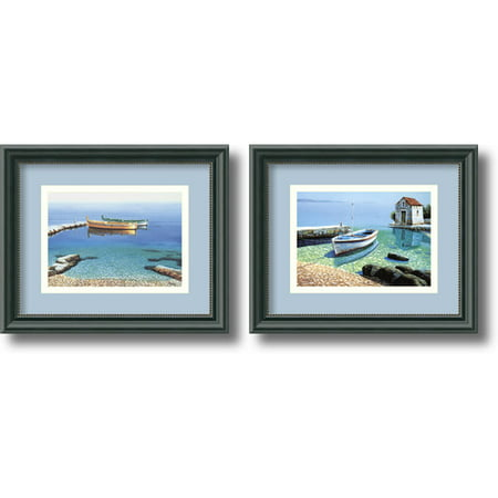 Amanti Art 'Peaceful Morning' by Frane Mlinar 2 Piece Framed Photographic Print Set (Set of 2)