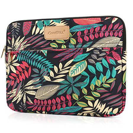 CoolBELL 13.3 Inch Laptop Sleeve Case Cover with Colorful Leaves Pattern Ultrabook Sleeve Bag for Ultrabook Like -