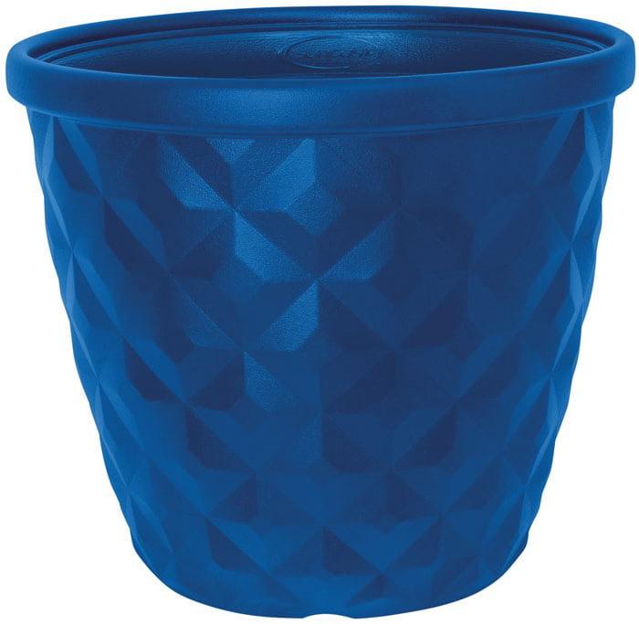 """Suncast 1622B4 Pinehurst Planter, 14.2"""", Blue"""