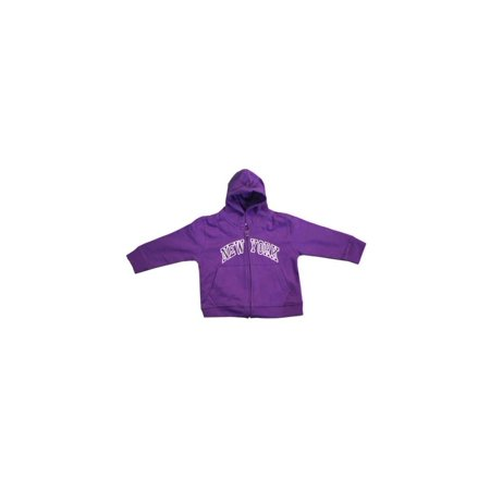 Toddler Zipper (New York City Infant Baby Zippered Hoodie Sweatshirt Purple 24 Months)