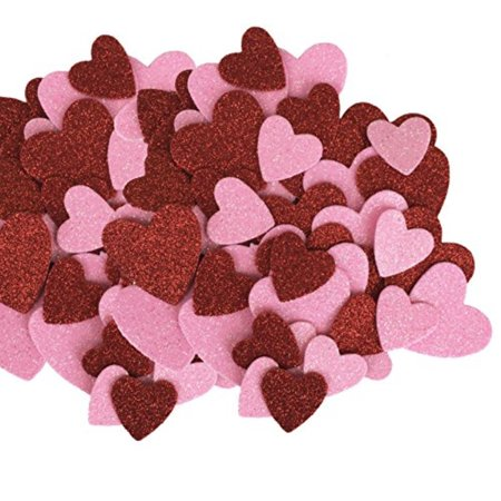 Red and Pink Glitter Hearts Table Scatter - Valentines, Weddings, Crafts](Glitter Heart)