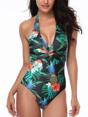8e72570b0c Product Image S-XXXXXL Plus Size Women One-Piece Swimsuit Bandage Backless  Swimwear Padded Push-
