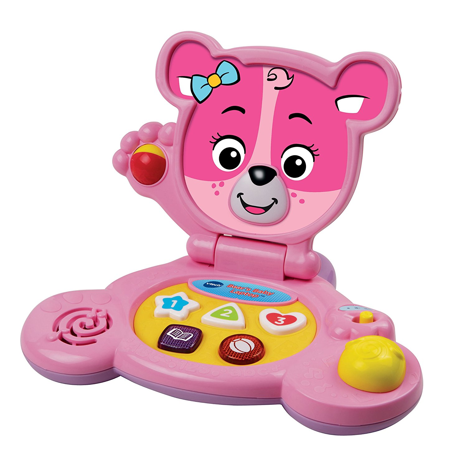 Bear's Baby Laptop, Pink, Projector PeekaBear Exclusive Teddy Soothing SmartPhone inches... by