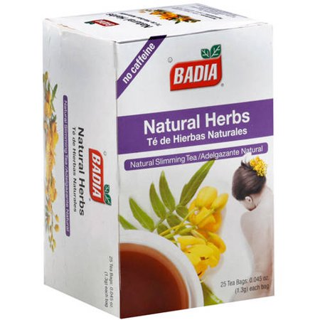 Badia Natural Herbs Slimming Tea Bags, 25 count, (Pack of 10) Chinese Herbal Slimming Tea