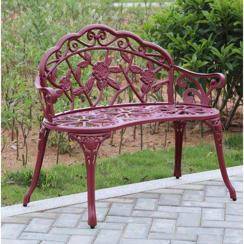 Fleur De Lis Living Stratton Steel Garden Bench