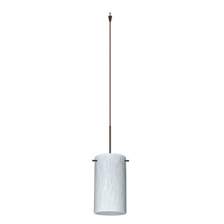 light halogen pendant with bronze metal finish from the stilo 7