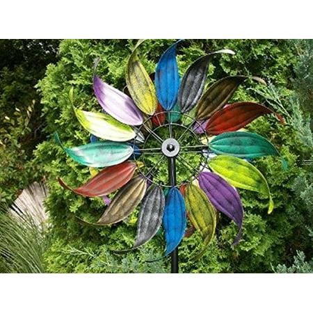 Metal Wind Garden Art Feathered Leaves Design 84