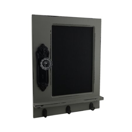 "17""x13"" Door Chalk Board w/3 Hooks"