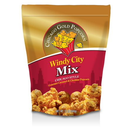 Chicago Gold Popcorn - Windy City Mix Cheese & Caramel Popcorn Gusset bag](Halloween Caramel Popcorn Recipe)