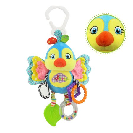 Iuhan Baby Stroller Hanging Toy Plush Animal Rattle Bed Bell Infant Baby Comfort