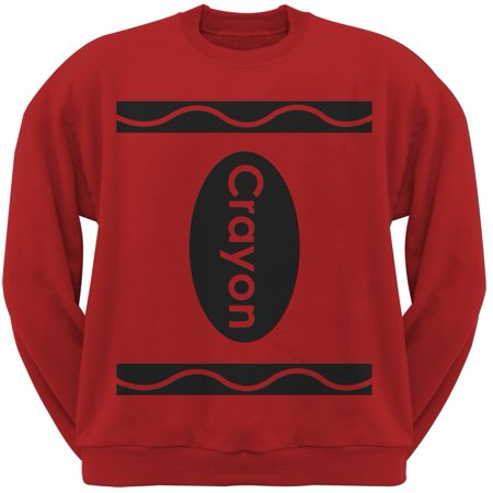 Halloween Crayon Costume Red Adult Sweatshirt - Red Halloween Drink Names