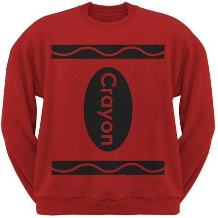 Halloween Crayon Costume Red Adult Sweatshirt - Halloween Sweatshirt