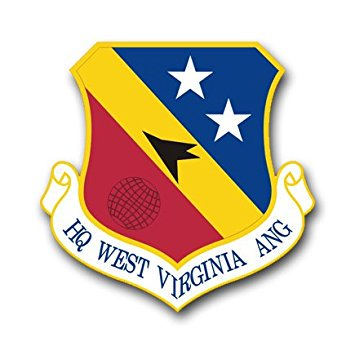 MAGNET US Air Force Headquarters West Virginia Air National Guard Decal Magnetic Sticker 5.5