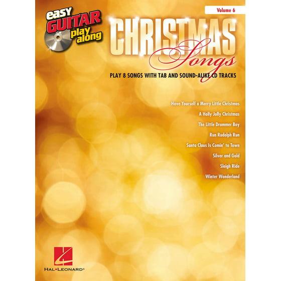 Hal Leonard Christmas Songs - Easy Guitar Play-Along Volume 6 Book ...