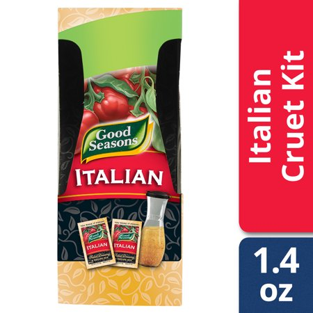 (3 Pack) Good Seasons Italian with Cruet Salad Dressing & Recipe Mix, 2 - 0.7 Oz Boxes](Good Dressing Up Ideas For Halloween)