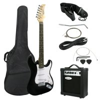 "Zeny 39"" Full Size Electric Guitar with Amp, Case and Accessories Pack Beginner Starter Package, Black"