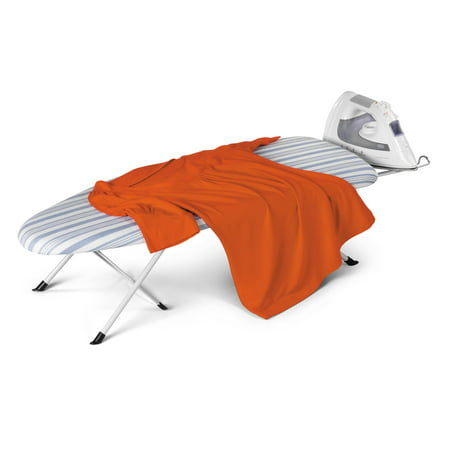 - Honey Can Do Portable Folding Tabletop Ironing Board, White/Blue