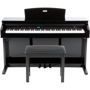 Williams Overture 2 88-Key Console Digital Piano and Proline Piano Bench Kit Black