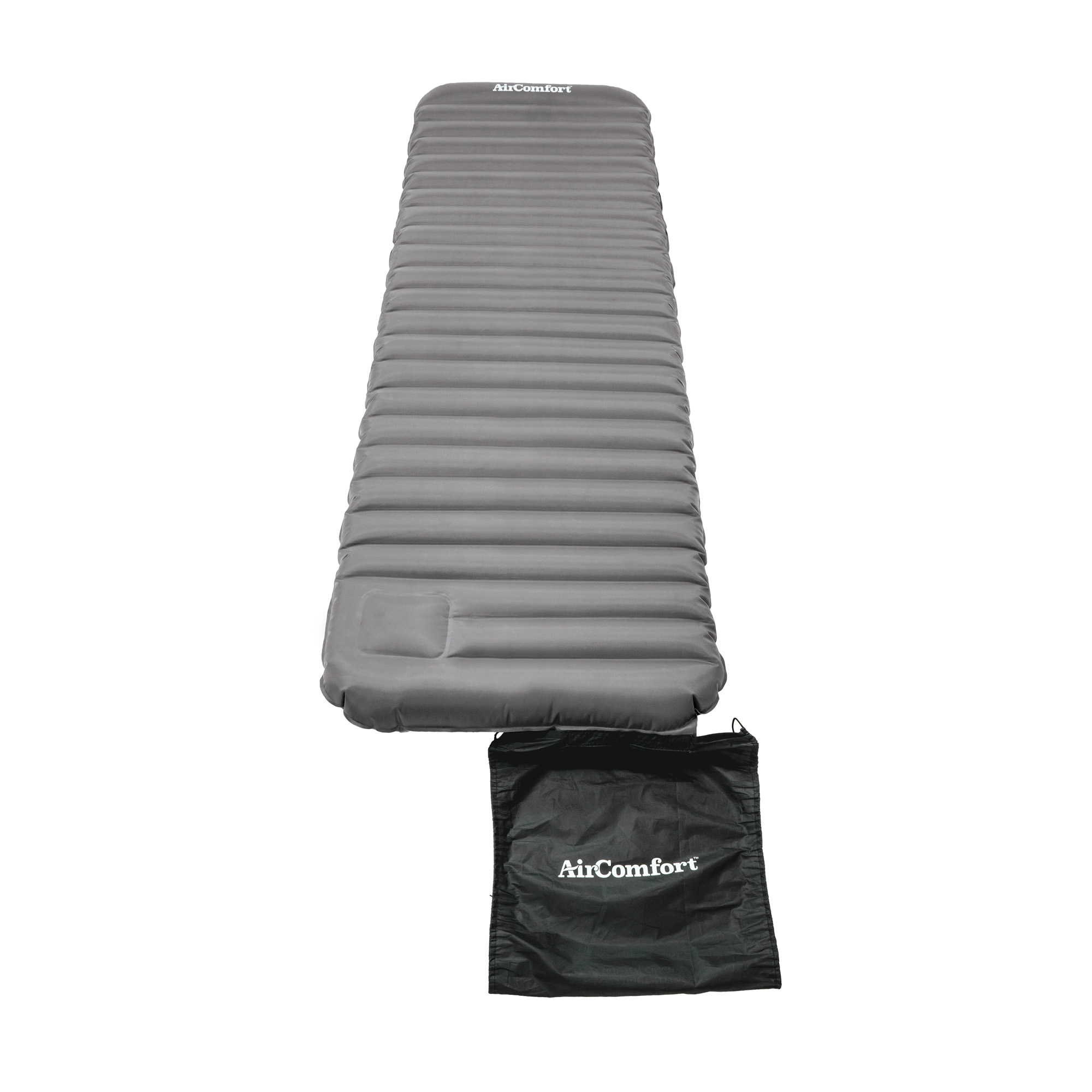 Air Comfort Roll and Go Lightweight Sleeping Pad, Grey by Pure Global Brands Inc