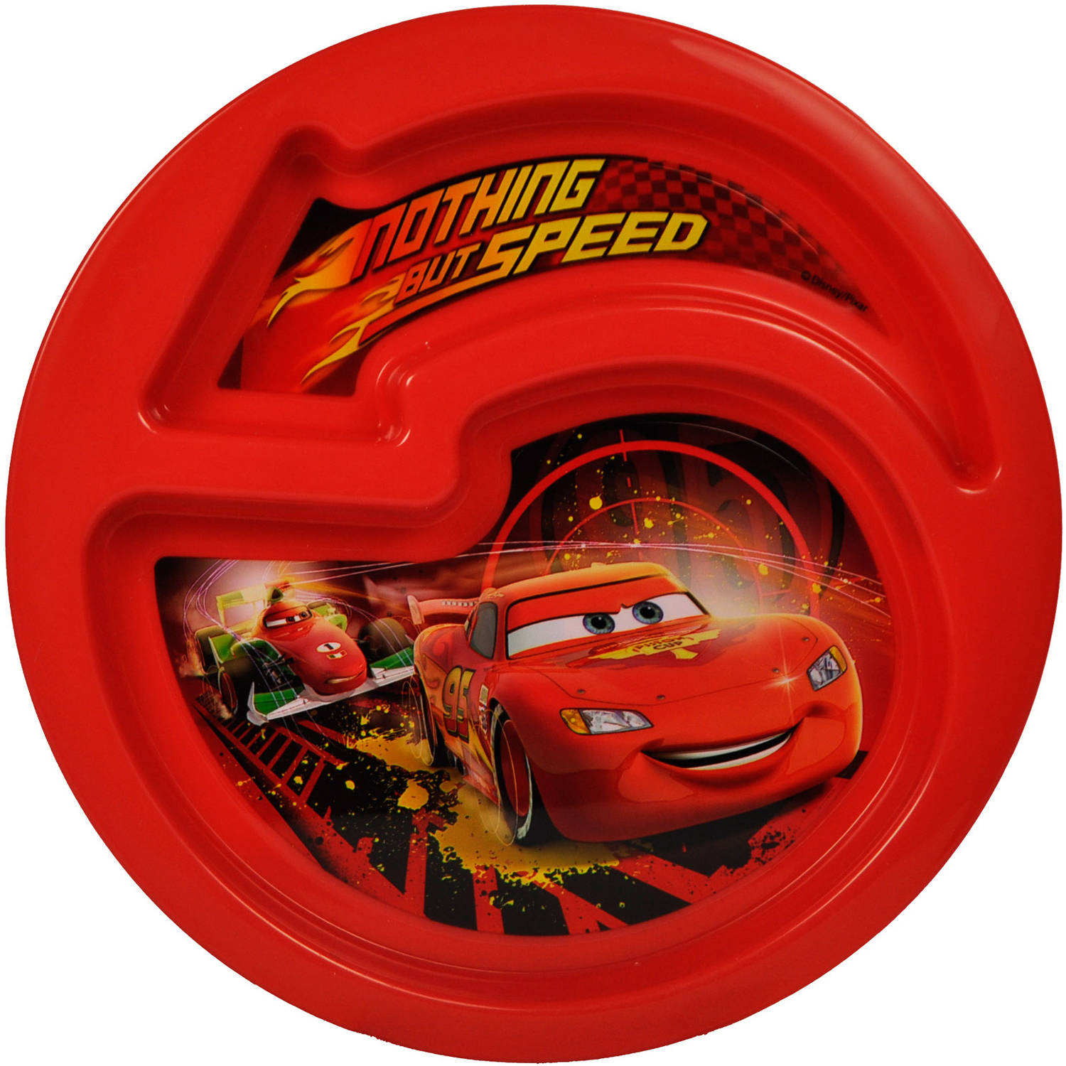 The First Years Disney/Pixar Cars Sectioned Plate, BPA-Free