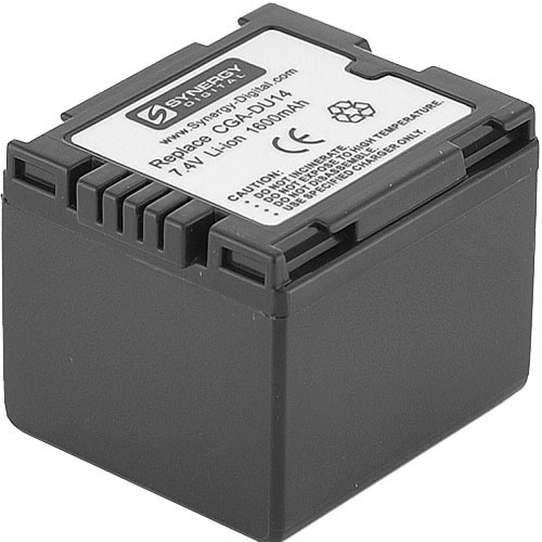 Panasonic VDR-D210 Camcorder Battery Lithium-Ion (1600 mAh)  - Replacement for Panasonic CGA-DU14U Battery