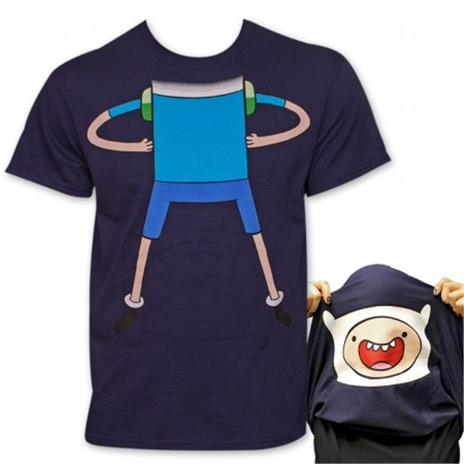 Adventure Time 23326M Finn Flip-Up Reversible T-Shirt - Blue, Medium