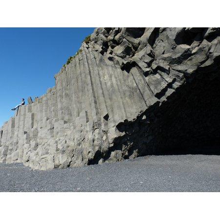 - LAMINATED POSTER Rock Lava Sand Black Stone Iceland Stones Beach Poster Print 24 x 36