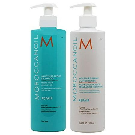 Moroccanoil Moisture Repair Shampoo Plus Conditioner, 16.9 Ounce