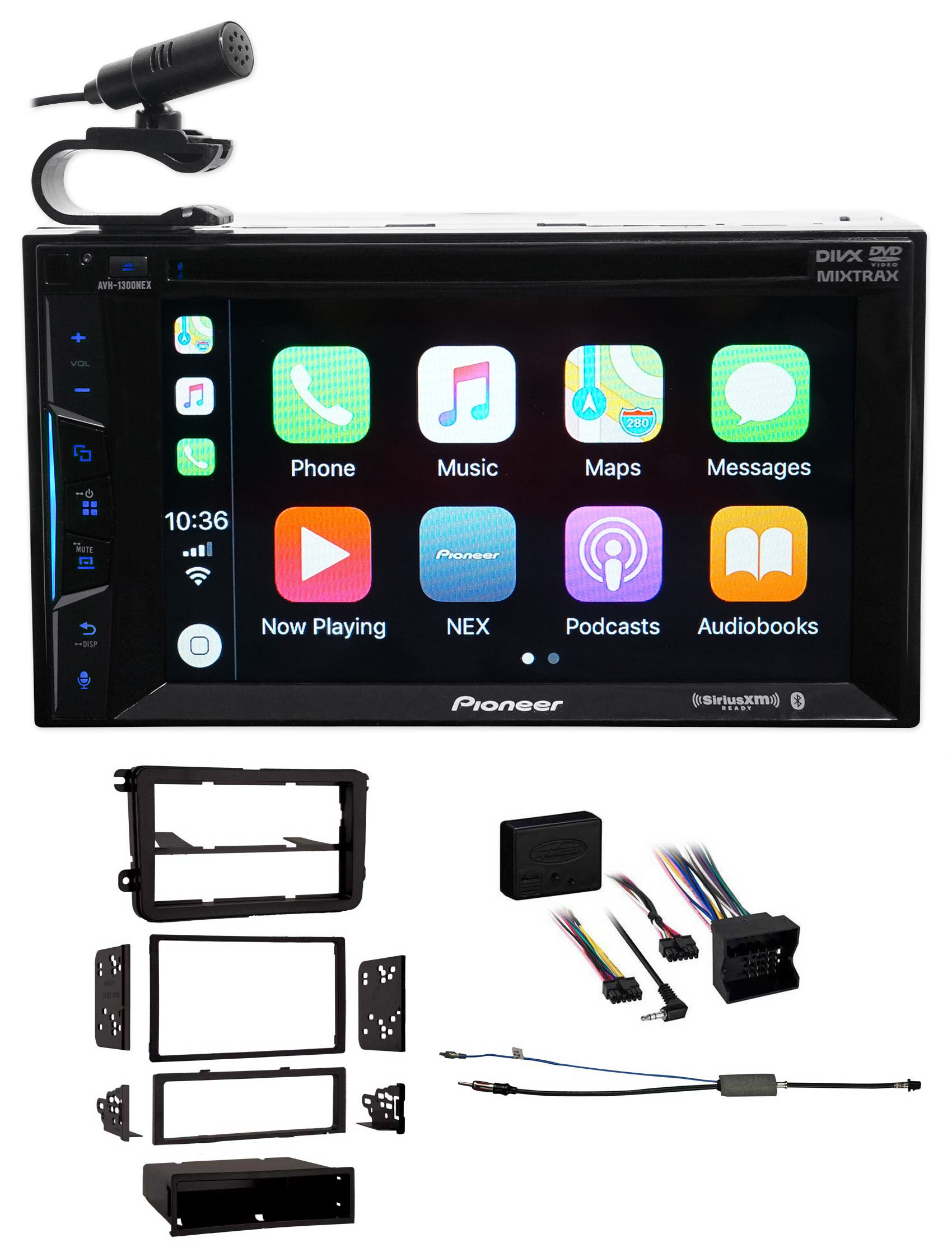 Pioneer Bluetooth DVD Receiver iPhone Android CarPlay For 05-15 Volkswagen Jetta by Pioneer
