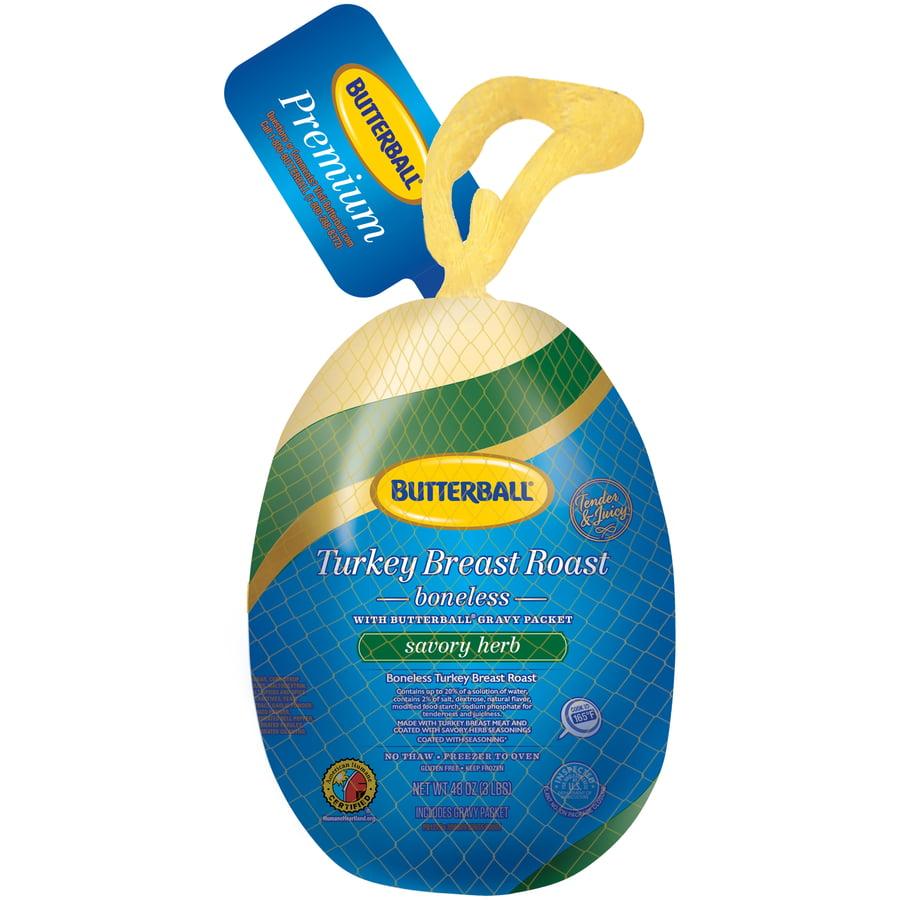 Butterball® Frozen Savory Herb Boneless Turkey Breast Roast, 3 lb