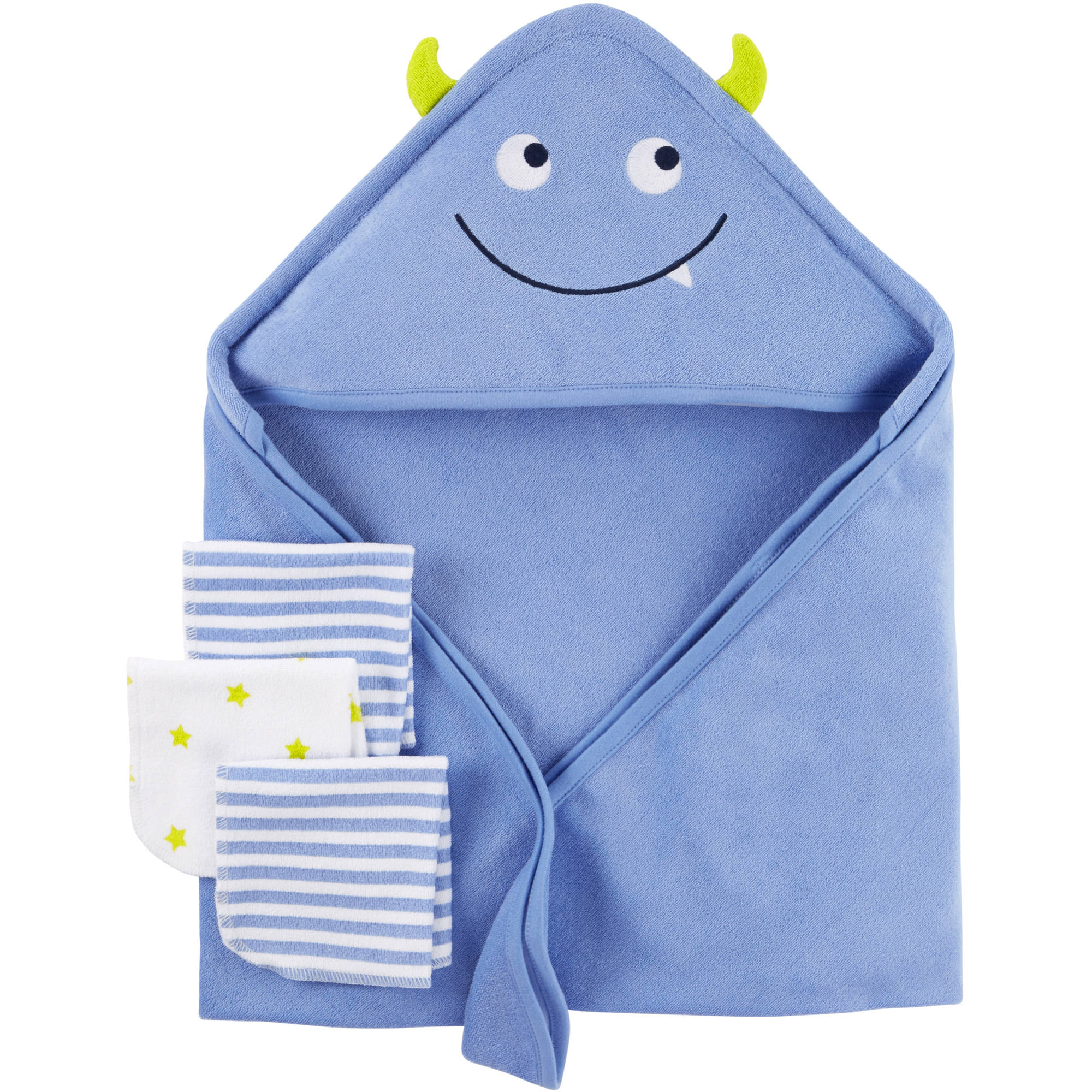 Child Of Mine by Carter's Newborn Baby Towel And Washcloth 4-Piece Set