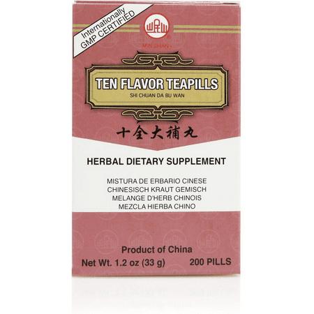 Da Bu Wan 200 Pills (Shi Chuan Da Bu Wan (Ten Flavor Teapills) (200)