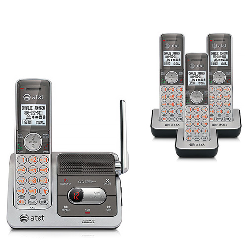 AT&T CL82401 / CL82451 DECT 6.0 Four Handsets HD Audio Technology Push-To-Talk Intercom