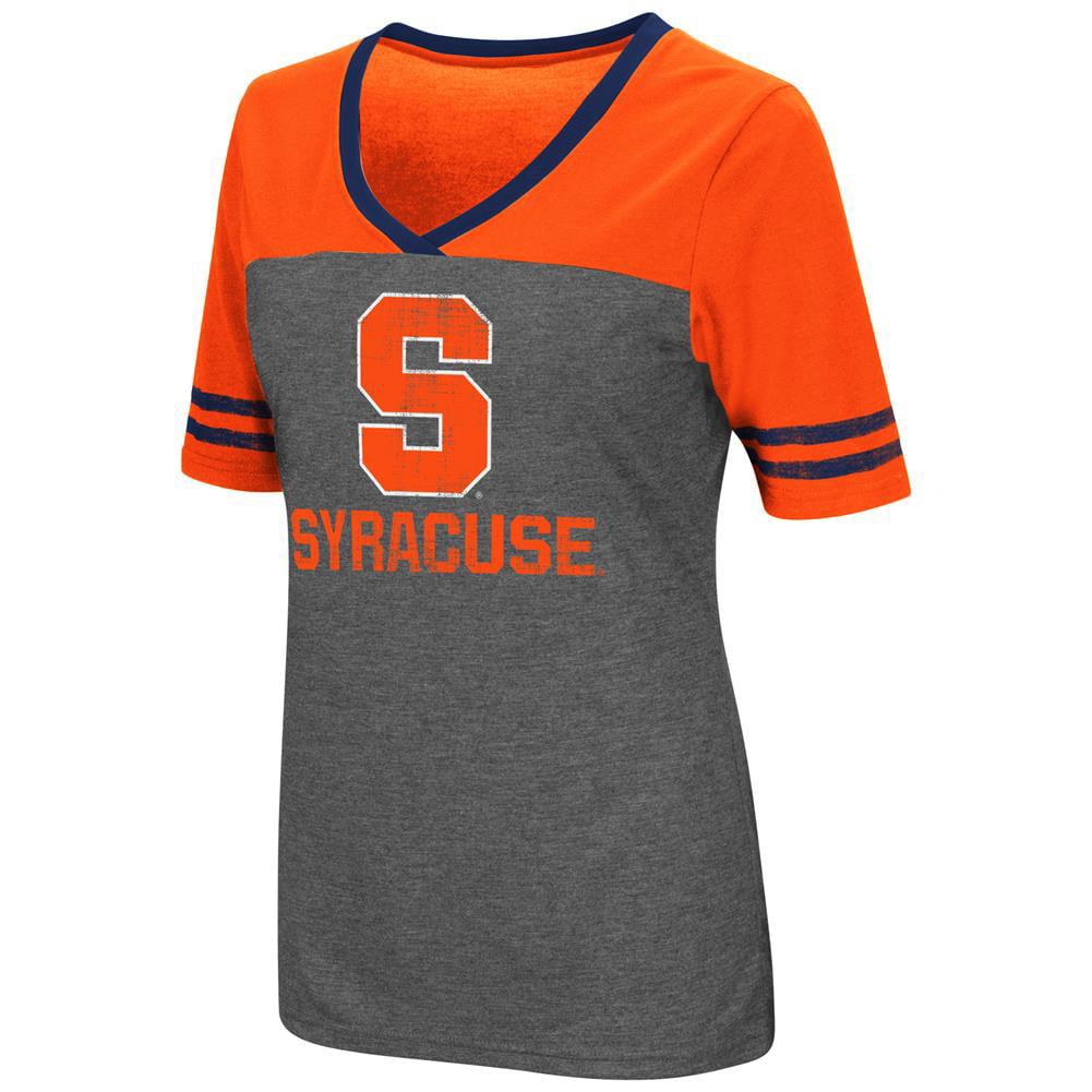 Ladies Colosseum Mctwist Syracuse University Jersey T Shirt