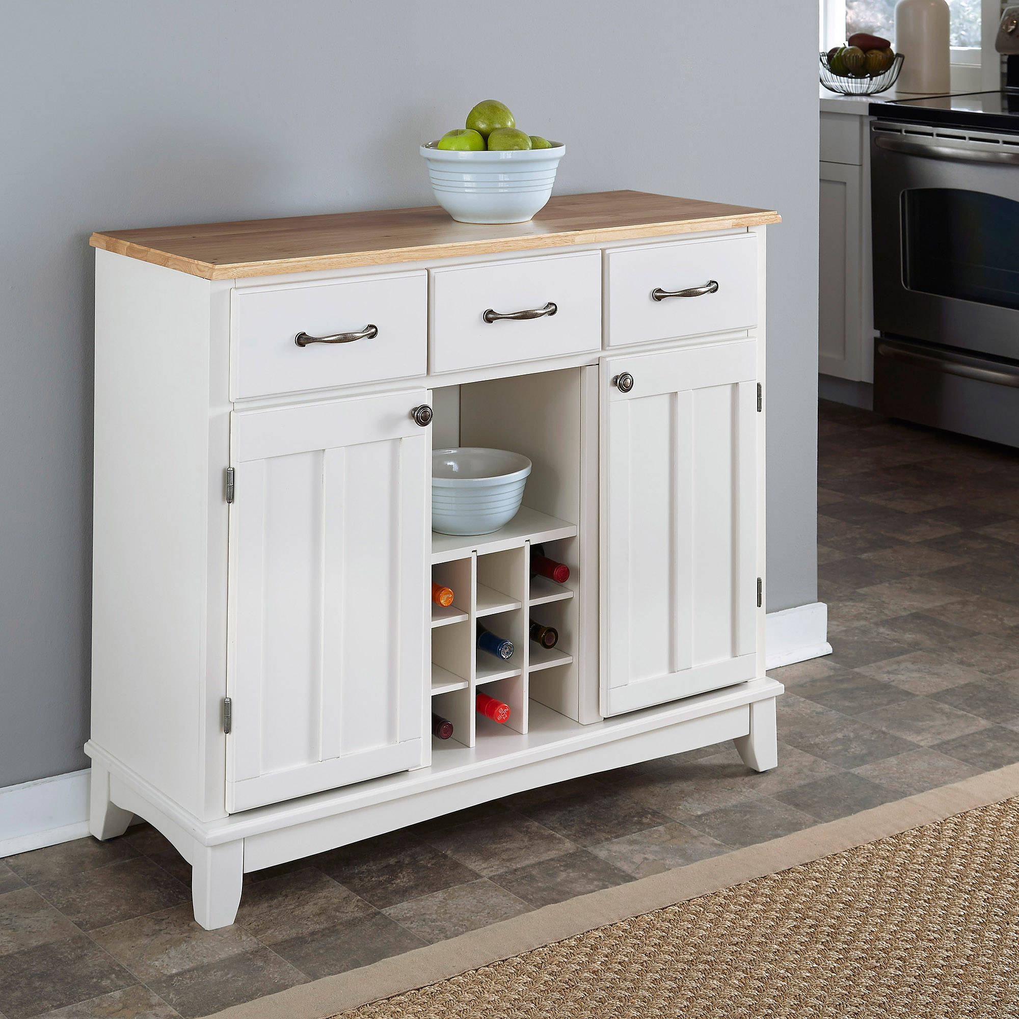 Home Styles Buffet of Buffets with Wood Top by HomeStyles