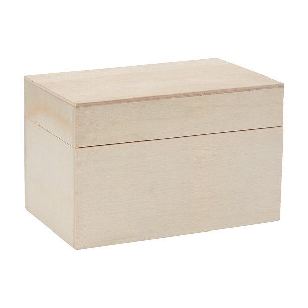 Do It Yourself Wood Recipe Box For 3x5 Craft Kits 12 Pieces Walmart Com Walmart Com