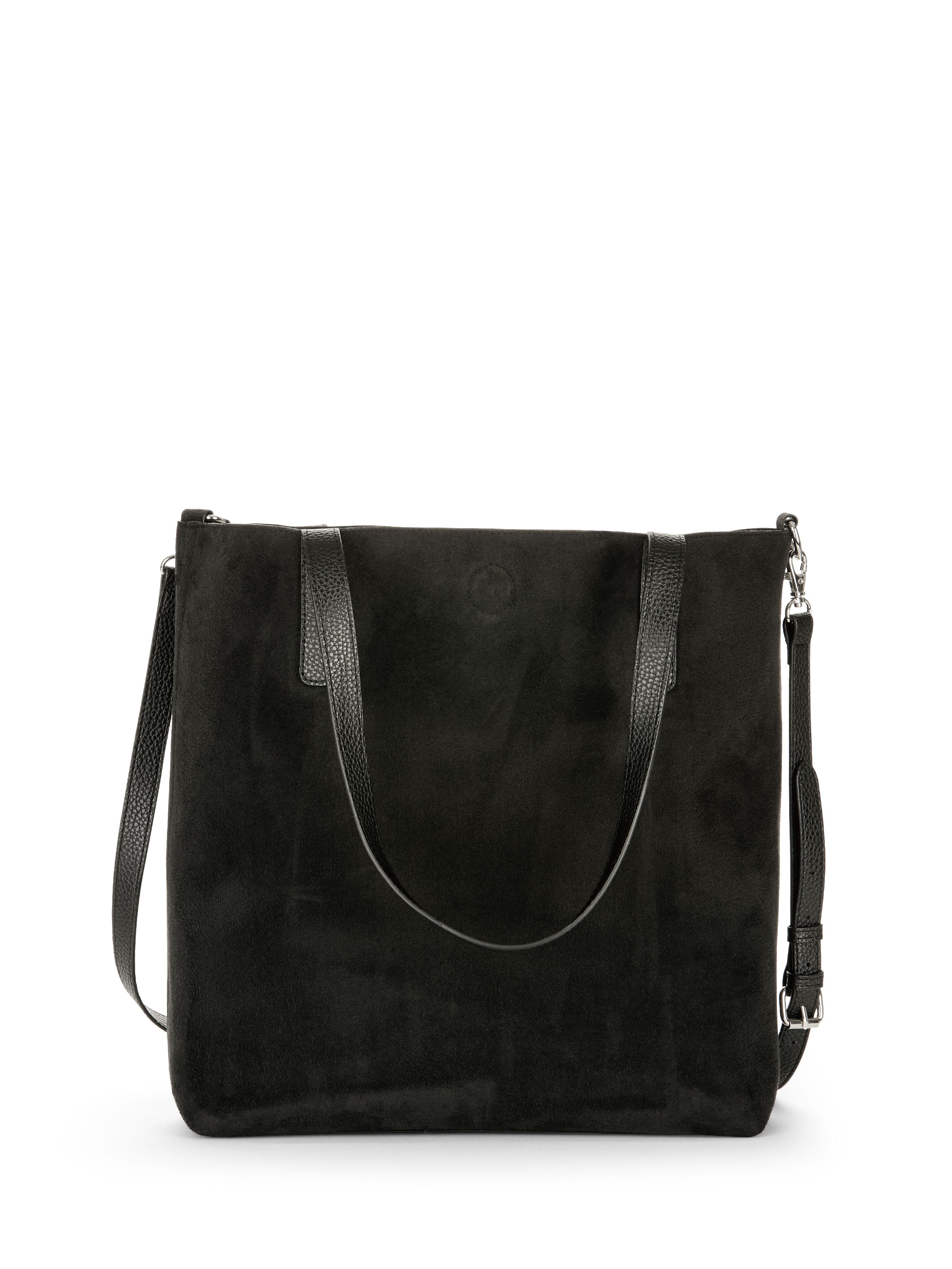 8eb79e13af Time and Tru - Time and Tru Leigh North South Reversible Tote with Pouch -  Walmart.com