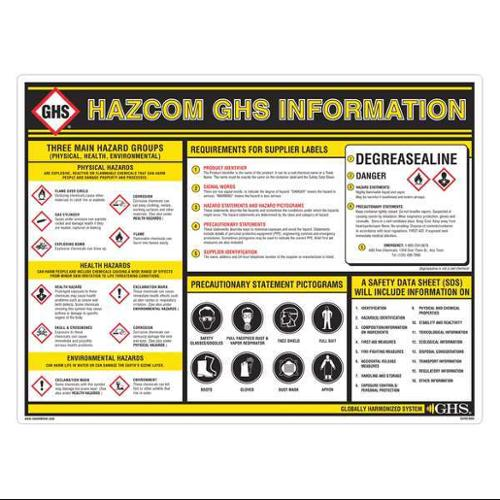Wall Chart Wall Chart, Ghs Safety, GHS1003
