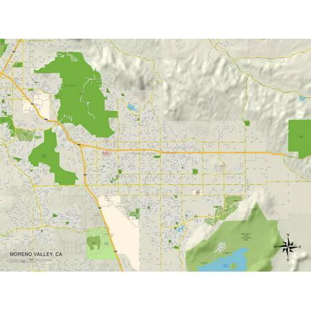 Party City Moreno Valley (Political Map of Moreno Valley, CA Print Wall)
