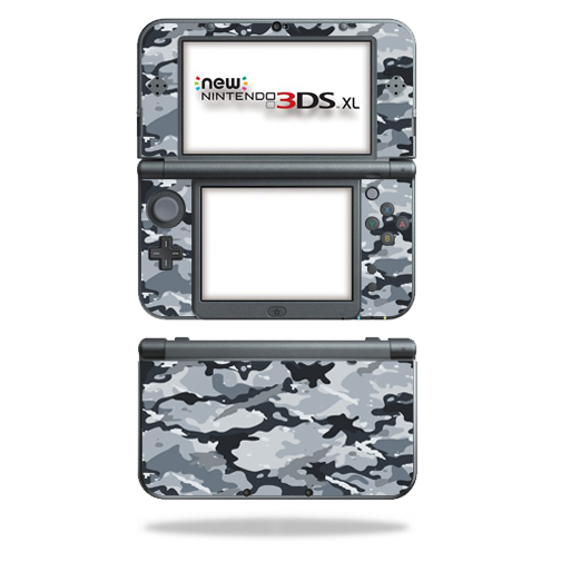 MightySkins Protective Vinyl Skin Decal for New Nintendo 3DS XL (2015) Case wrap cover sticker skins Gray Camouflage