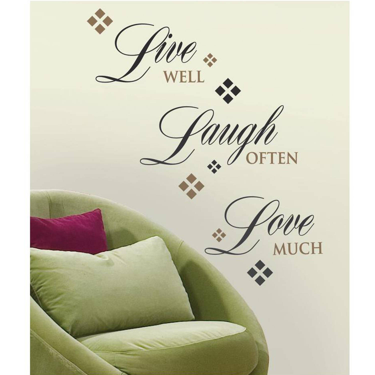 Ordinaire RoomMates Live Love Laugh Peel And Stick Wall Decals   Walmart.com