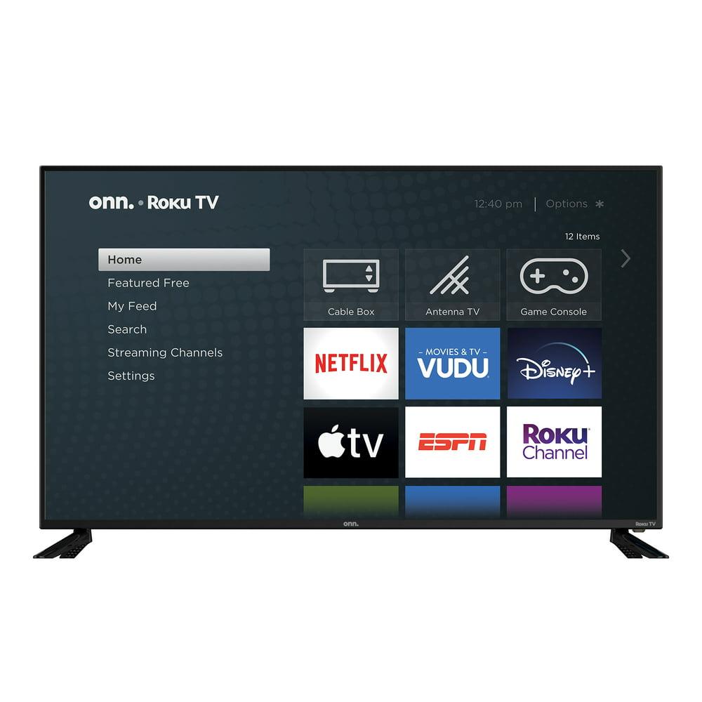 "onn. 58"" Class 4K UHD HDR Roku Smart LED TV (100018971)"